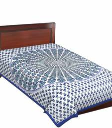 Buy Multicolor rajasthani print single bedsheet bed-sheet online