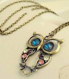 Buy Chic Owl Neckpiece(CFN0046) Necklace online