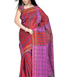 Buy Traditional Bold Stripes Chettinad Cotton Saree PS450 cotton-saree online