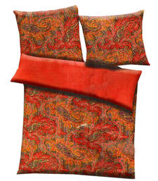 Buy Mustard  and  rust polyester contemporary print single bed  ac quilt quilt online