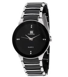 Buy New Fashion Casual Black and Silver color watch Famous Brand Quartz Watch Wristwatch watch online