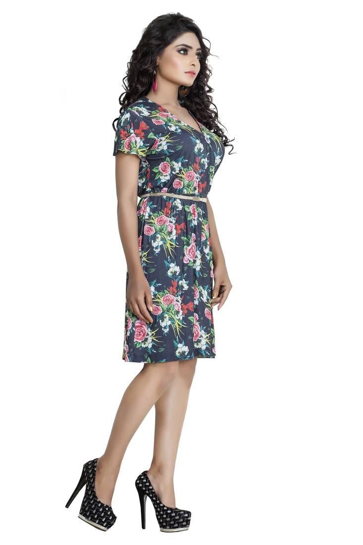 a46390f241 Buy Pashimo Womens Grey Color Lycra Western Wear Dress Online