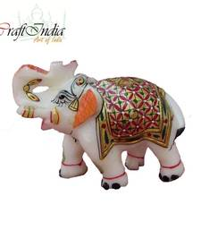 Buy eCraftIndia Saluting Hand Painted Elephant christmas-decor online