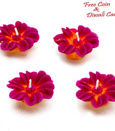 Buy Flower wax candle dyas- set of 4 candle online