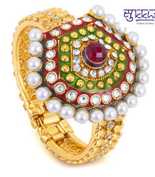 Buy Diwali offers Online - Sukkhi Gold Plated multicolor stone flexible kada bangles-and-bracelet online