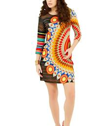 Buy Multicolor printed cotton stitched kurti gifts-for-wife online