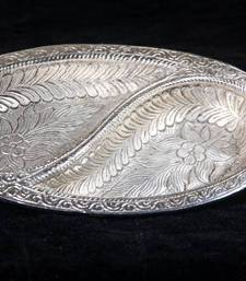 Buy Silver Tray oval shape. MuHeNeRa presents Athish collection 549 wedding-gift online