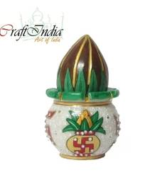 Buy eCraftIndia Marble Kalash with Coconut other-home-accessory online