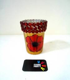 Buy Poppy- hand-painted tealight holders candle online