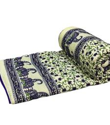 Buy Purple jaipuri hand made block print singal bed quilts quilt online