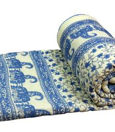 Buy Blue jaipuri hand made block print double bed quilts quilt online