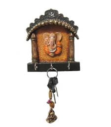 Buy eCraftIndia Papier-Mache Key Holder with Lord Ganesha other-home-accessory online