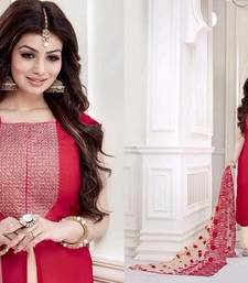 Buy Red georgette embroidered semi stitched salwar with dupatta ayesha-takia-salwar-kameez online