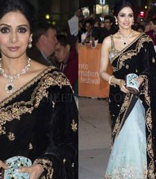 Buy Sridevi half half bollywood saree sridevi-saree online