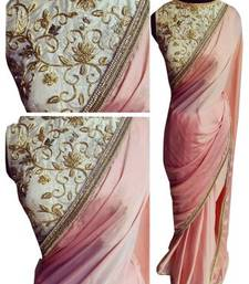 Buy Bikaw Embroidered Pink Silk Traditional Party Wear Saree. - KT-3027 art-silk-saree online