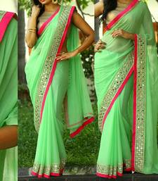 Buy Bikaw Embroidered Green Georgette Traditional Party Wear Saree. - KT-3068 bollywood-saree online