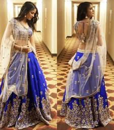 Buy Blue georgette embroidered Lehenga Choli bridal-lehenga online