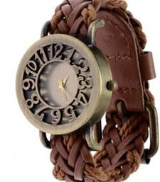 Buy New Fashion Brown colour Leather strap stylist Latest 2016  Wristwatch watch online