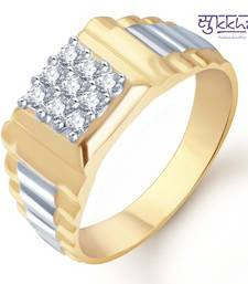 Buy Sukkhi Gold and Rhodium Plated CZ Ring for Men(108GRK540) gifts-for-him online