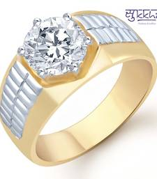 Buy Sukkhi Gold and Rhodium Plated Solitaire CZ Ring for Men(122GRK700) gifts-for-him online