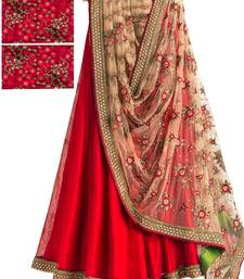 Buy Red benglori embroidered unstitched lehenga choli ghagra-choli online