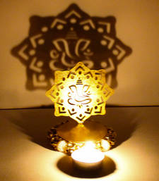 Buy Exclusive shadow diya tealight candle holder of removable ganesha new-year-gift online