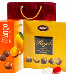Buy Chocolate and treat hamper for bhai dhooj diwali-chocolate online
