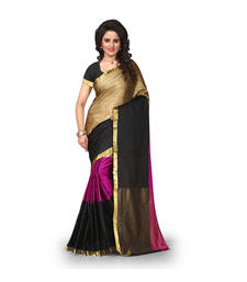 Buy Multicolor woven art silk sarees saree with blouse art-silk-saree online