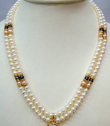 Buy REAL PEARLS DOUBLE STRING PEARLS SET necklace-set online