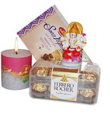 Buy Diwali gift with candles diwali-chocolate online