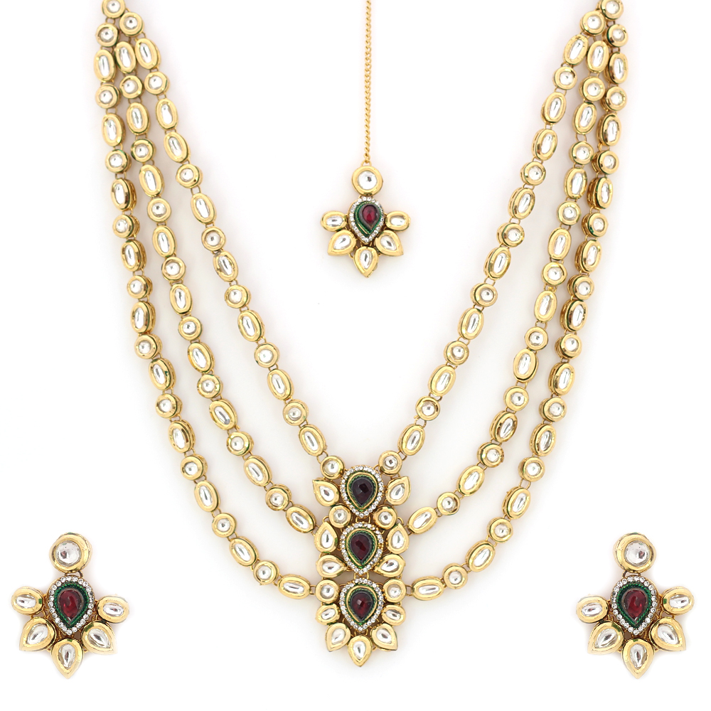Kundan Jewelry Set: Buy Real Kundan Necklace Set Online