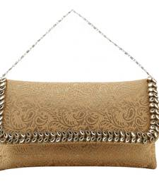 Buy Gold brocade clutches clutch online