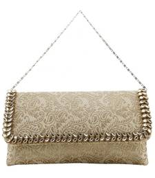 Buy Cream brocade clutches clutch online