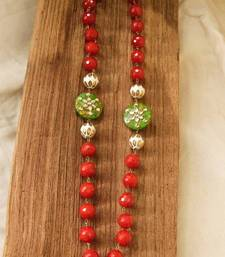 Buy Orange & Green Agate Necklace necklace-set online