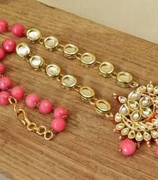 Buy Pink Kundan Royalty Necklace necklace-set online
