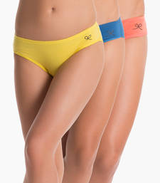 Buy navy & yellow & orange hipster (pack of 3) panty online