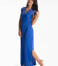 Buy cobalt long night dress nightwear online