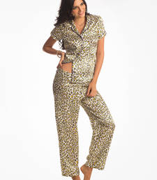 Buy Yellow Wild Cat All day Lounge Top & PJ Set nightwear online