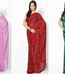Buy 3 Designer Sarees in Single Pack  crepe-saree online