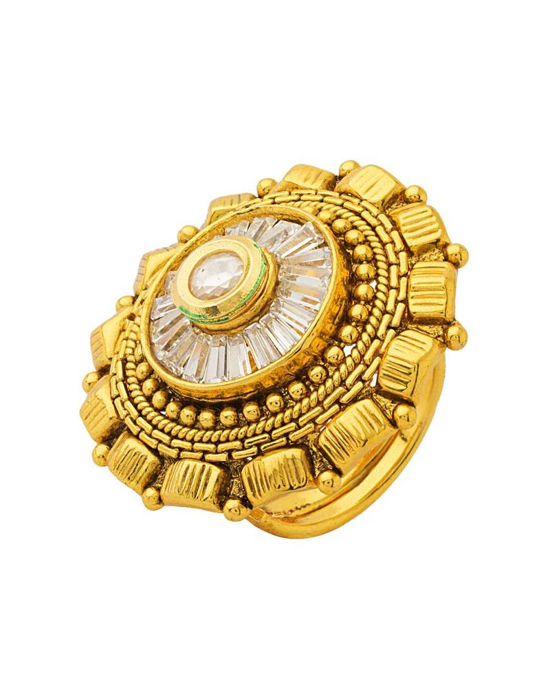 buy gold kundan rings