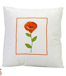 Buy Cotton Decorative Cushion cover with Floral Print and filler gifts-for-mom online