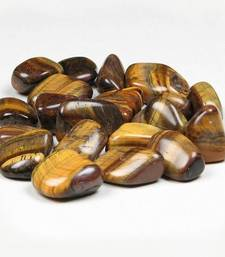 Buy Tiger eye tumbled stone set of 3 healing crystal gemstone jewellery other-gemstone online
