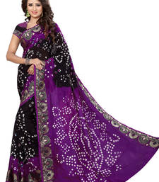 Buy Violet hand woven jacquard saree with blouse jacquard-saree online