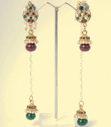 Kashmiri Jhumka Earrings in Ethnic Design shop online