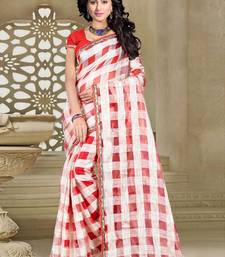 Buy red printed art silk sarees saree with blouse art-silk-saree online