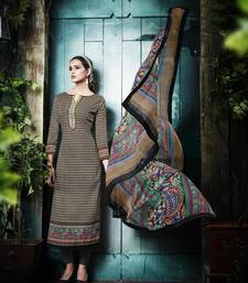 Buy Multicolor printed cotton salwar dress-material online