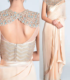 Buy Gold embroidered georgette saree bollywood-saree online