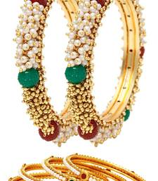 Buy Multicolor pearl jewellery-combo bangles-and-bracelet online