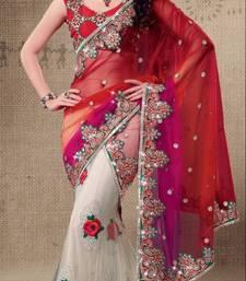 Buy Designer Net Lehenga Saree with heavy border.2520. eid-sarees-dress online