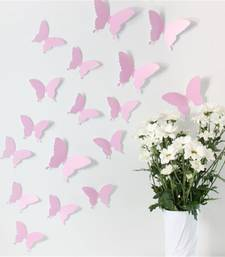 Buy Light Pink 3D Butterflies' Wall Sticker (13 cm X 15 cm) wall-decal online